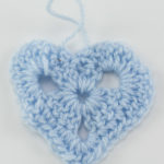 Blue crochet heart, Manchester Together Archive