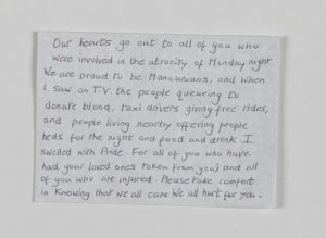 Message on envelope, Manchester Together Archive