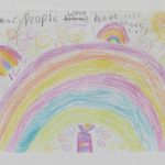 Rainbow drawing, Manchester Together Archive