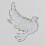 Paper dove with memorial message, Manchester Together Archive