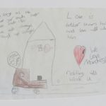 Drawing and sympathy message, Manchester Together Archive
