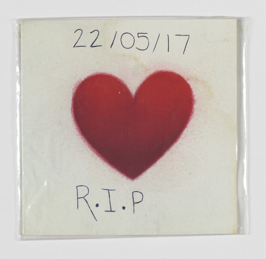 Sympathy card with annotation, Manchester Together Archive