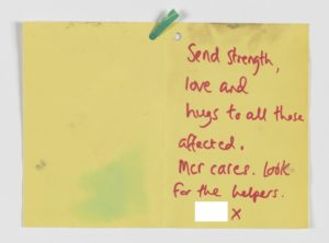 Sympathy card, Manchester Together Archive