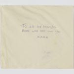 Envelope with message, Manchester Together Archive